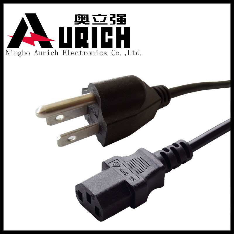China Electrical Wiring Power Cord  Usa Nema Type 3 Prong