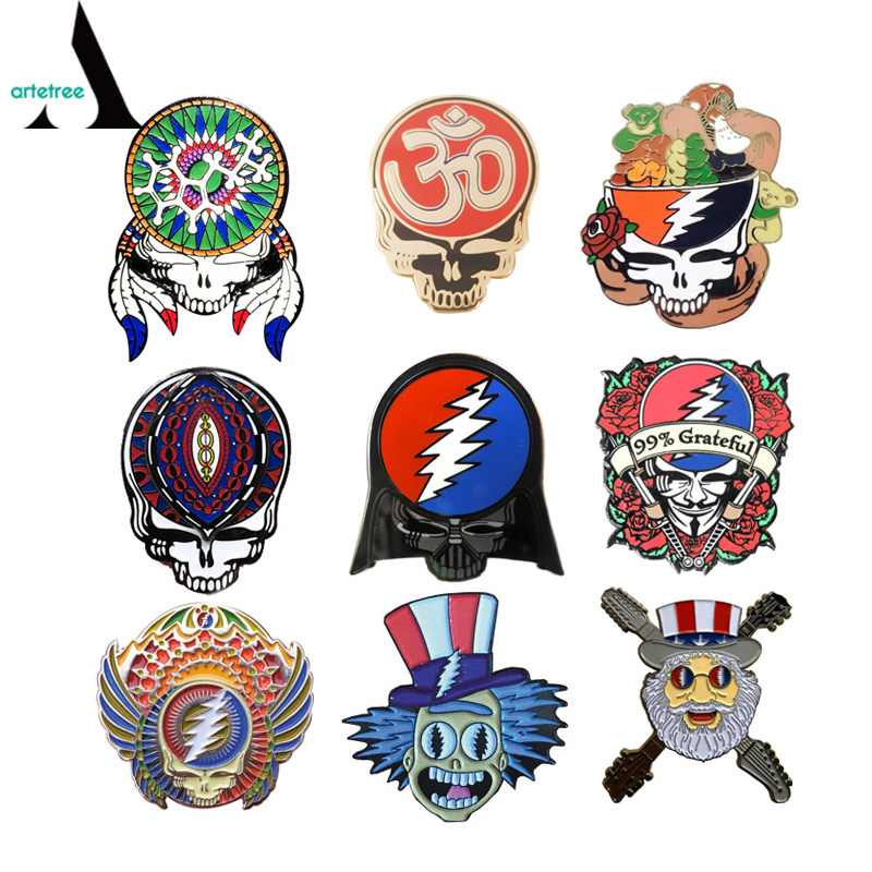 China Grateful Dead Custom Metal Enamel Lapel Pin China Lapel Pin