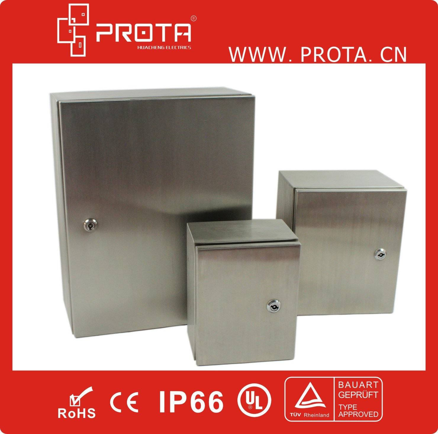 IP66 Waterproof Electrical Stainless Steel Enclosure, Distribution Box