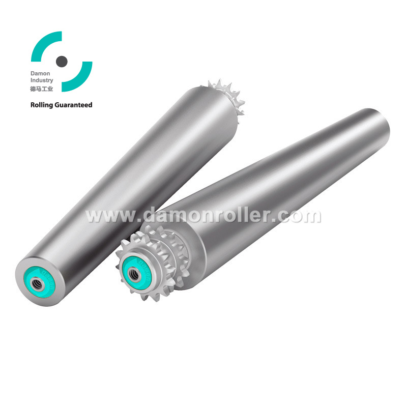 Steel Double Sprocket Tapered Conveyor Roller (2521)