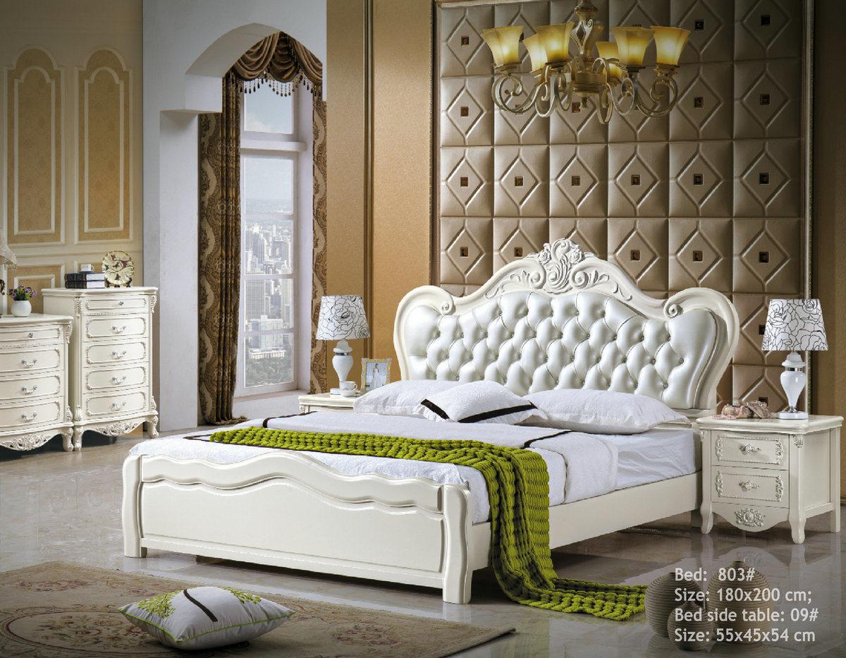 huge selection of 0503f c7cf8 [Hot Item] Royal Bedroom Furniture Sets Wooden Leather Bed (803)