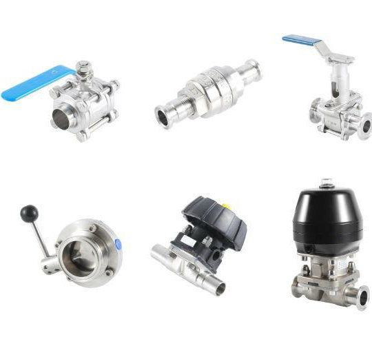 China sale sanitary stainless steel food grade pneumatic diaphragm sale sanitary stainless steel food grade pneumatic diaphragm valve ball valve butterfly valve check valve globe valve ccuart Gallery