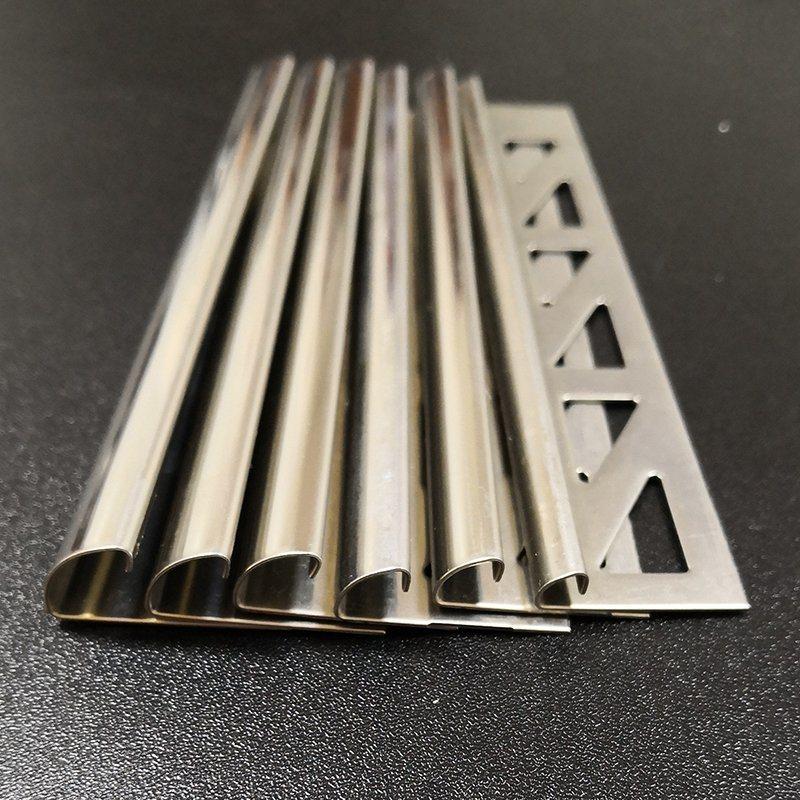 China 4 6 8 10 12 14mm Stainless Steel Tile Trim Genesis Tile Trim China Stainless Steel Tile Trim Tile Edge Profile