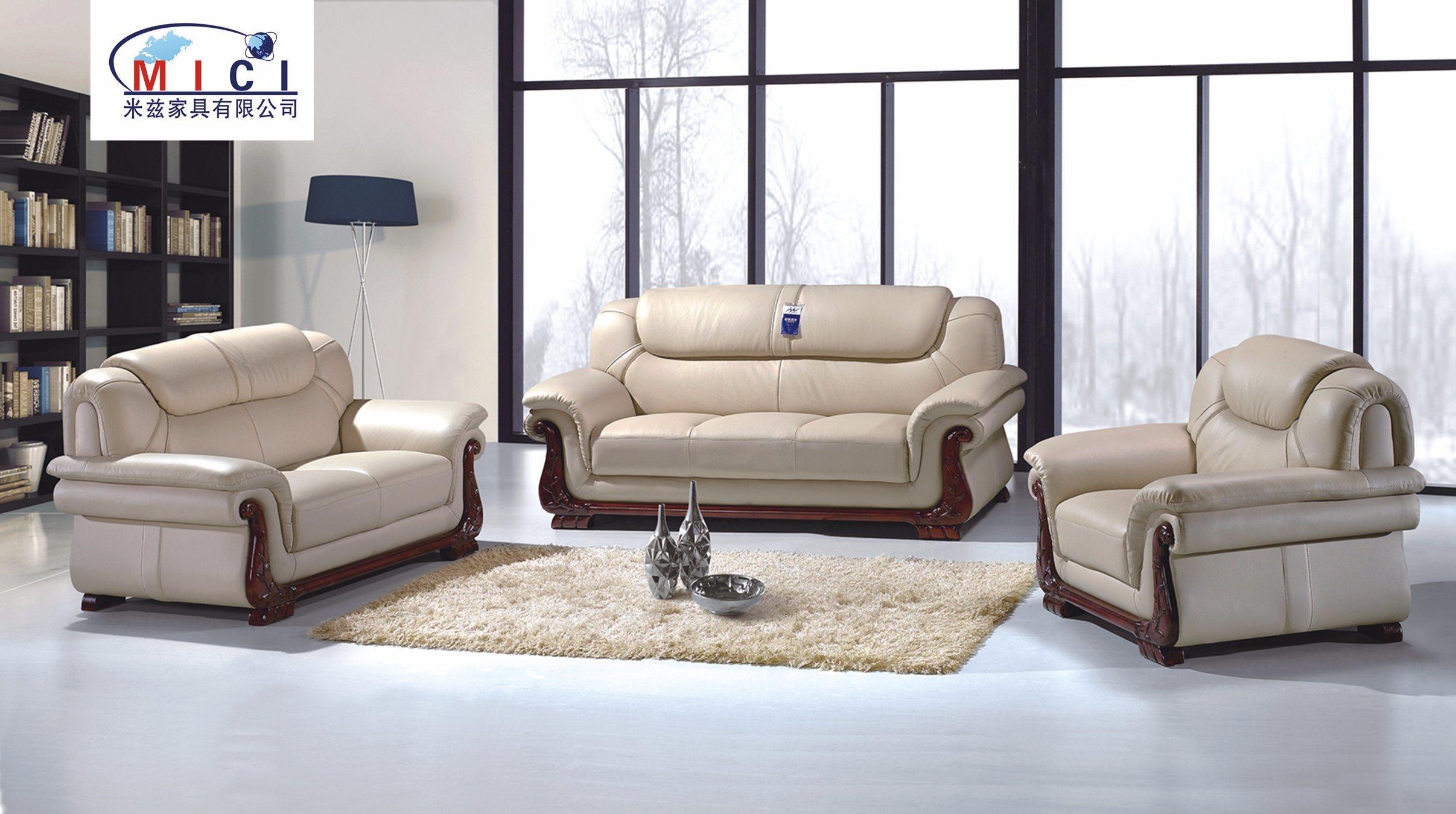 Furniture Elegant Leather Sofa Set