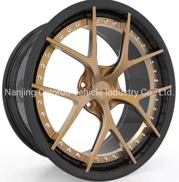 Hot Item 18 22 Inch Chinese Ultra Light Carbon Fiber Car Forged Aluminum Alloy Wheel Rims