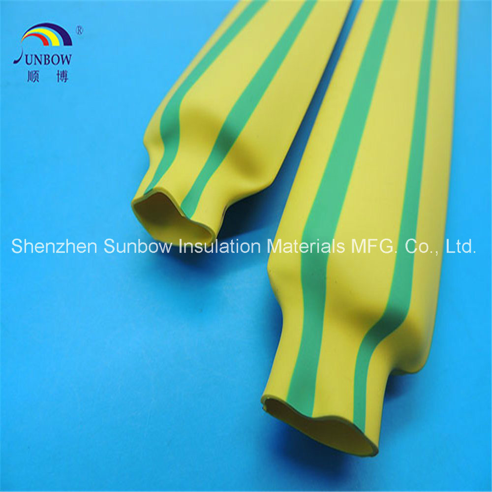 China 2: 1 Yellow/ Green Stripped Polyolefin Heat Shrink Tubings for ...