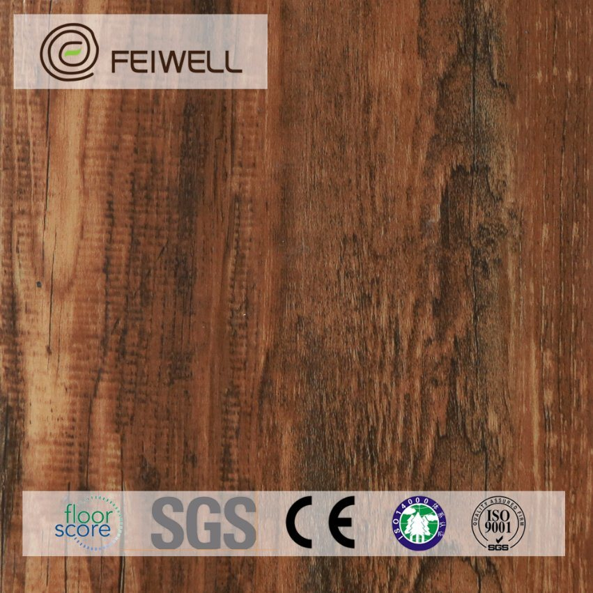 China Self Adhesive Formaldehyde Free 6x36 Lvt Flooring Wood Look
