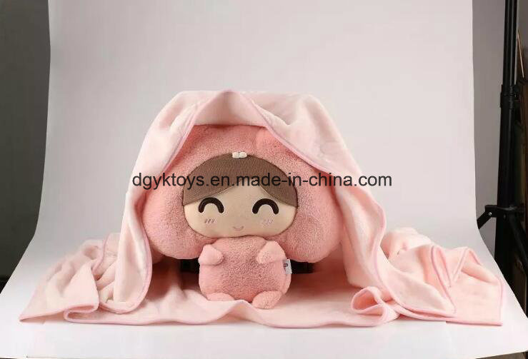 China Wholesale Animal Head Plush Animal Baby Blanket Photos