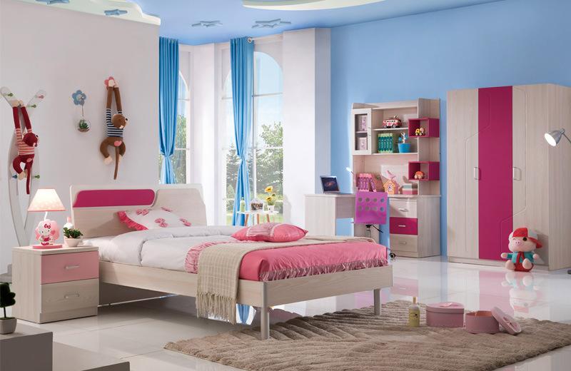China Foshan Pink Princess Kids Bedroom Furniture Set (8883 ...