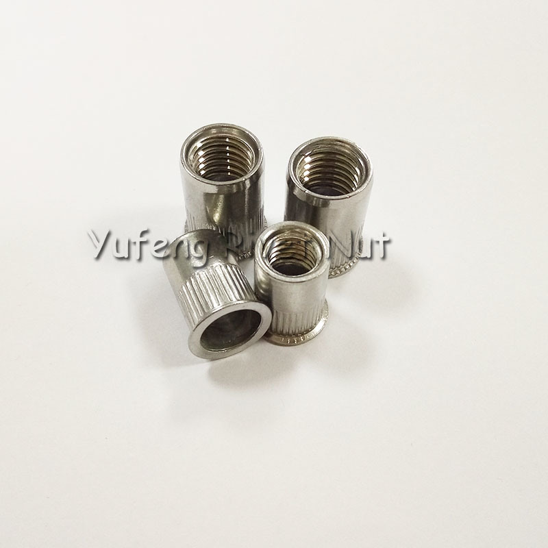 Stainless Steel Small Head Knurled Body Rivet Nut