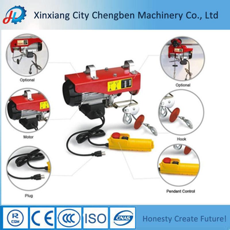 China Mini Samall Electric Wire Rope Hoist with Trolley - China Mini ...