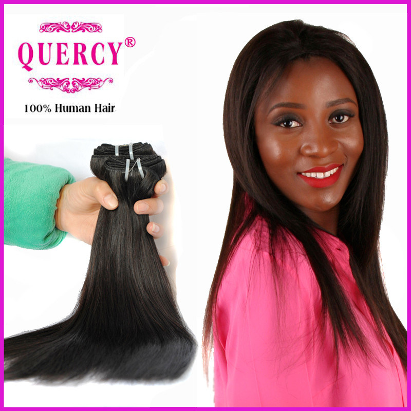 China Quercy Nice Quality Human Hair Extensions Straight Weave