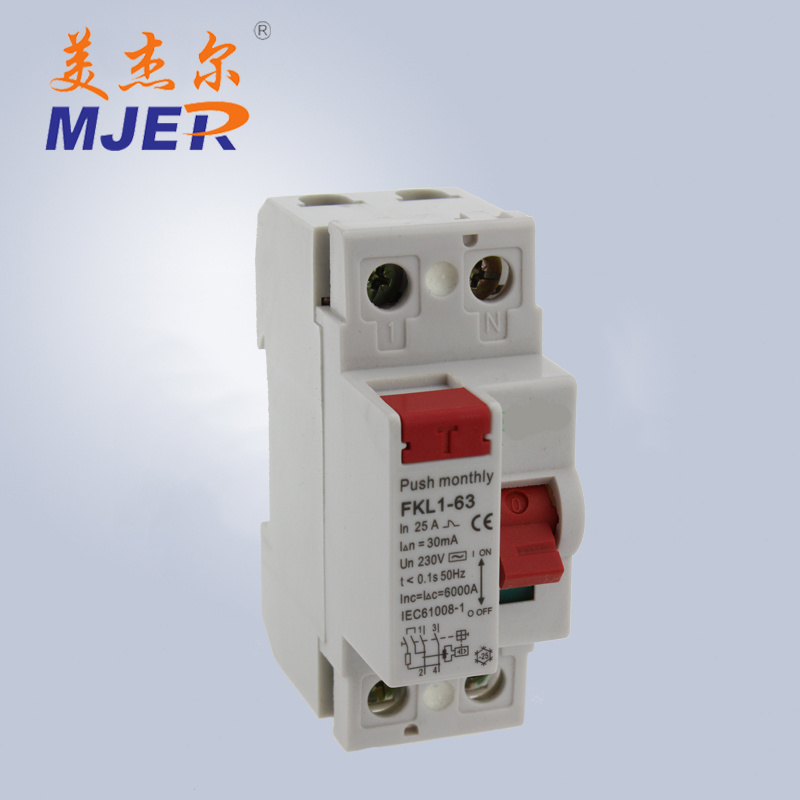 China 63A 1p+N Leakage Residual Current Circuit Breaker House Hold ...