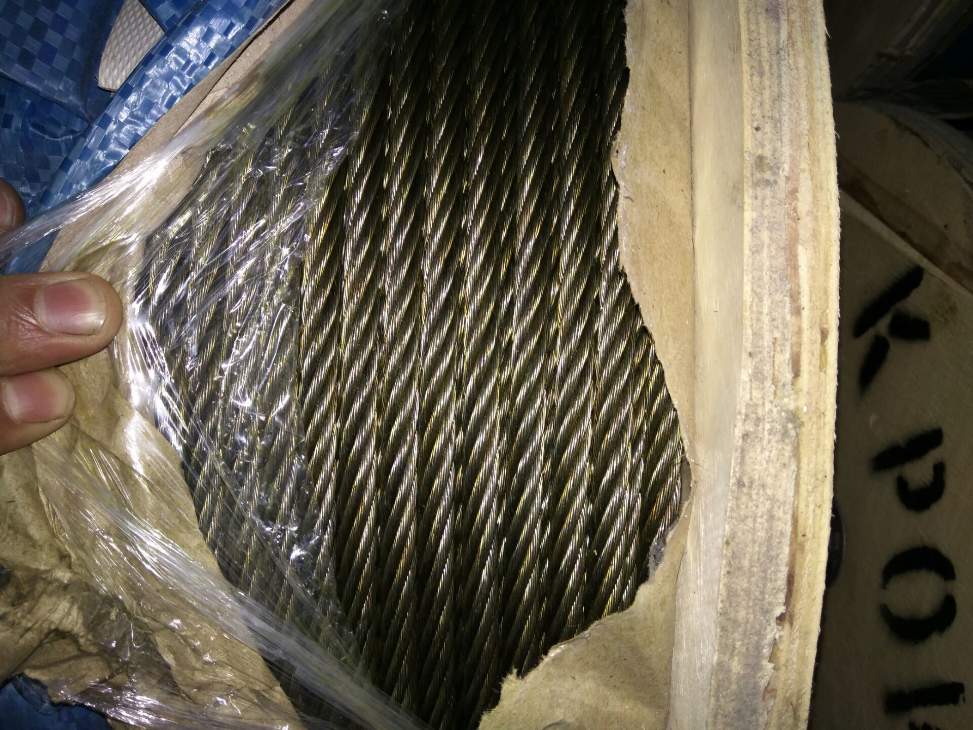 China Ungalvanized Steel Wire Rope 6X19 with Steel Core 5/8\