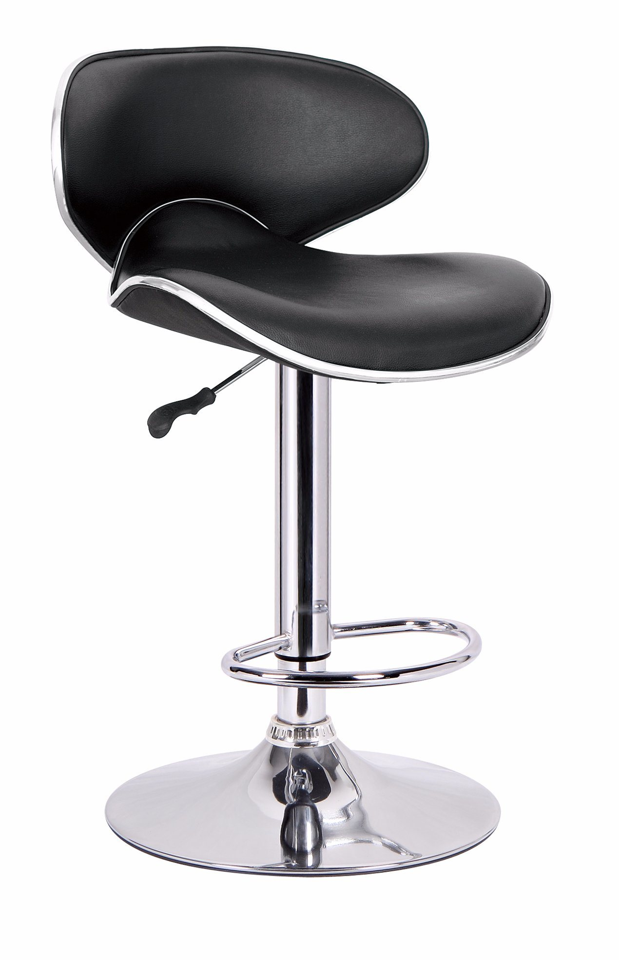 Awesome Hot Item Modern Stainless Steel High Counter Leather Bar Stool Factory Quality Bar Chair Creativecarmelina Interior Chair Design Creativecarmelinacom