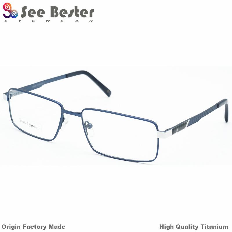95349d57f0e Latest Trends Fashion Titanium Eyeglass Optical Frame 2018 100% Titanium  High Quality Full Frame Optical Frames with Carbon Fiber and Double Color
