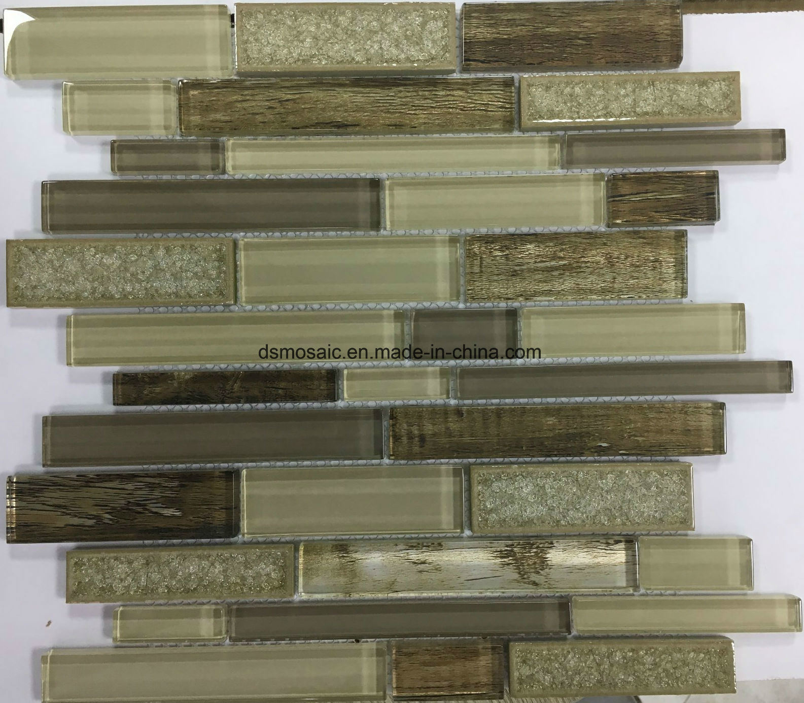 New Laminated Stripe Shape Glass Mosaic Tile pictures & photos