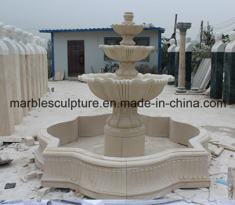 Beige Stone Sculpture Water Fountain (SY- F002) pictures & photos
