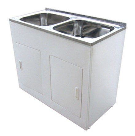 China Bathroom White Double Sinks Laundry Tub 1160b China