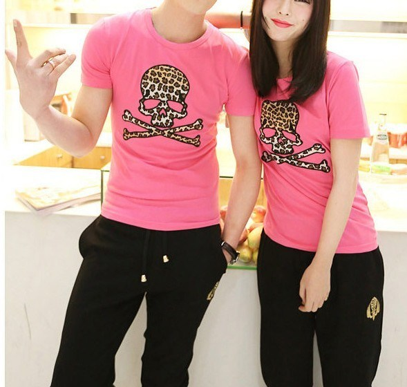 China Summer Short Sleeve Fashion Print Love Couple T Shirt Design China Couple T Shirt And Couple T Shirt Design Price