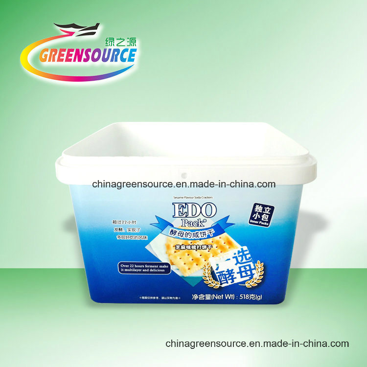 Greensource, High Quality in-Mould Labeling for Color Biscuit Box
