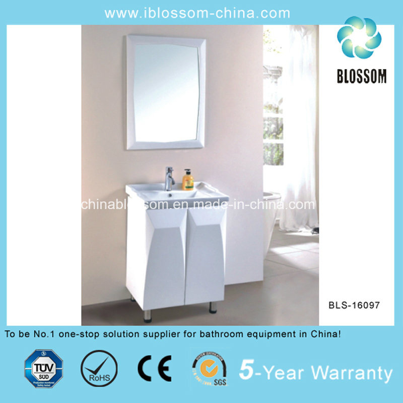 High Quality Floor Mounted China PVC Bathroom Vanity, Cabinet (BLS-16097)