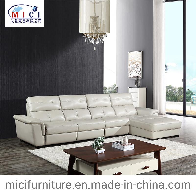 L Shape Genuine Leather Recliner Sofa