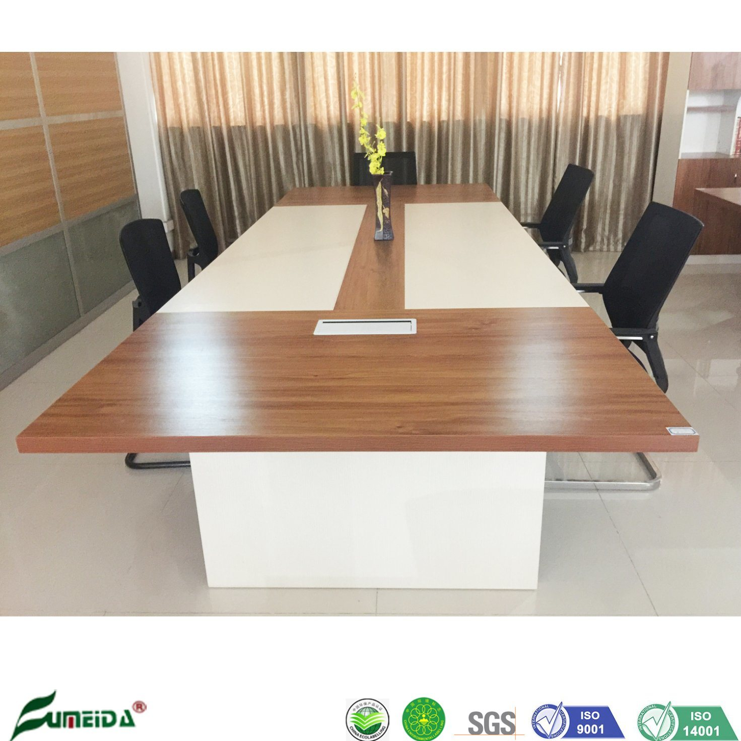 China Wooden Golden Teak 3 6m Conference Table For Meeting Room China Conference Table Meeting Table