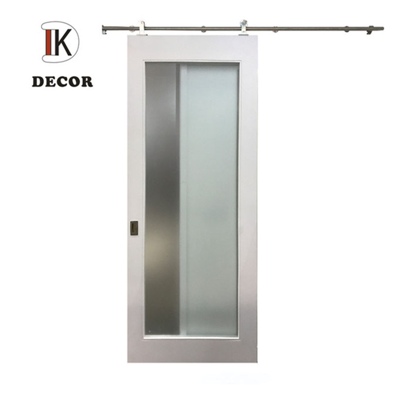 China Hot Selling White Painted Sliding Mirrored Barn Door China Barn Door Glass Door