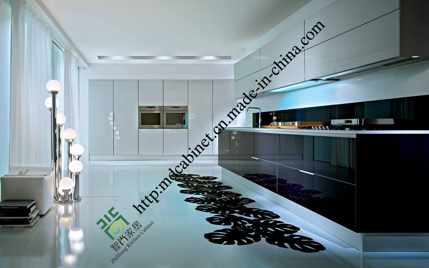 China Flashy Acrylic Finish Kitchen Cabinets (zs-461) - China ...