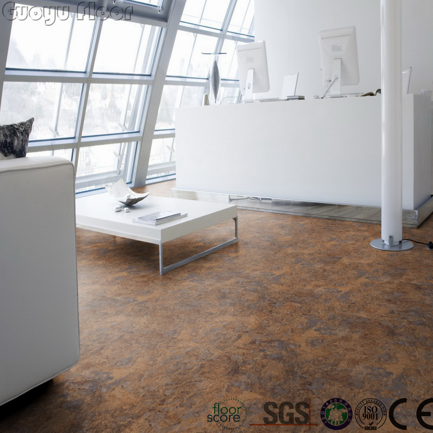 China Marble Grain Pvc Luxury Dry Back Floor Tiles Photos Pictures