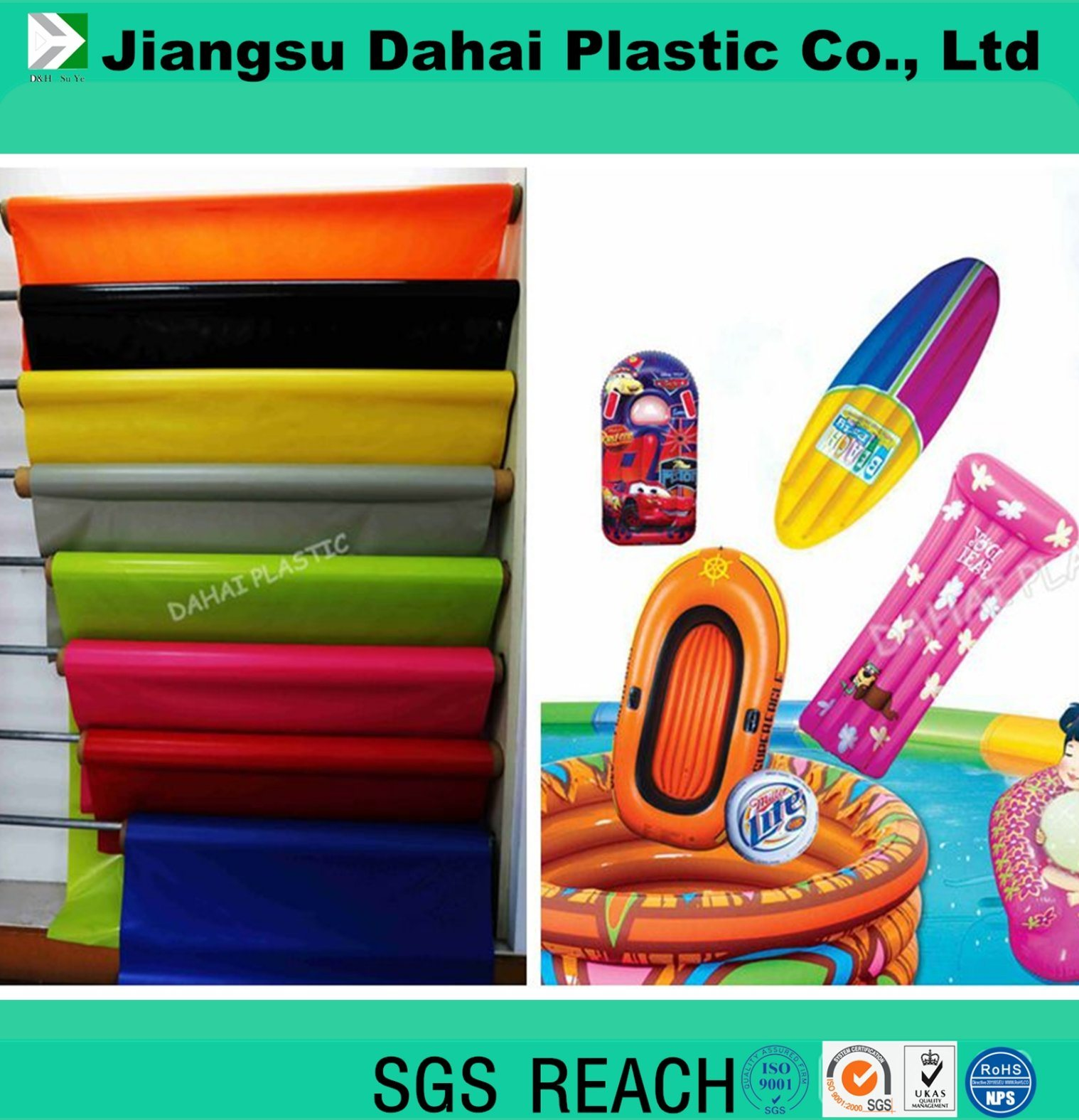 6p Color PVC Film for Bags Raincoat Water-Bed Inflatable Toys pictures & photos