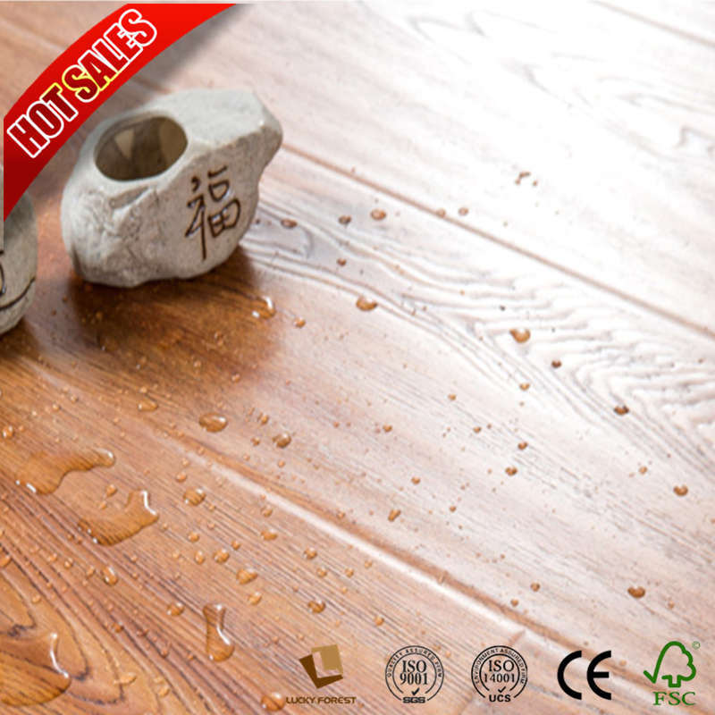 China 8mm 12mm Wood Grain Eco Forest Laminate Flooring Hdf Hardwood Building Material