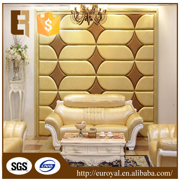 China Drawing Room Decorative Wall Sliding Eco Friendly Pu Pvc Leather Soft Wall Panel China 3d Wall Panel Wall Paper