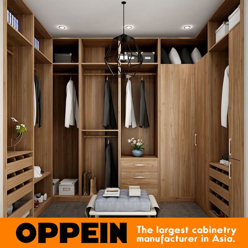 China Modern U Shaped Wood Grain Walk In Closet Wooden Bedroom Wardrobe Yg16 M09 China Wardrobe Closet