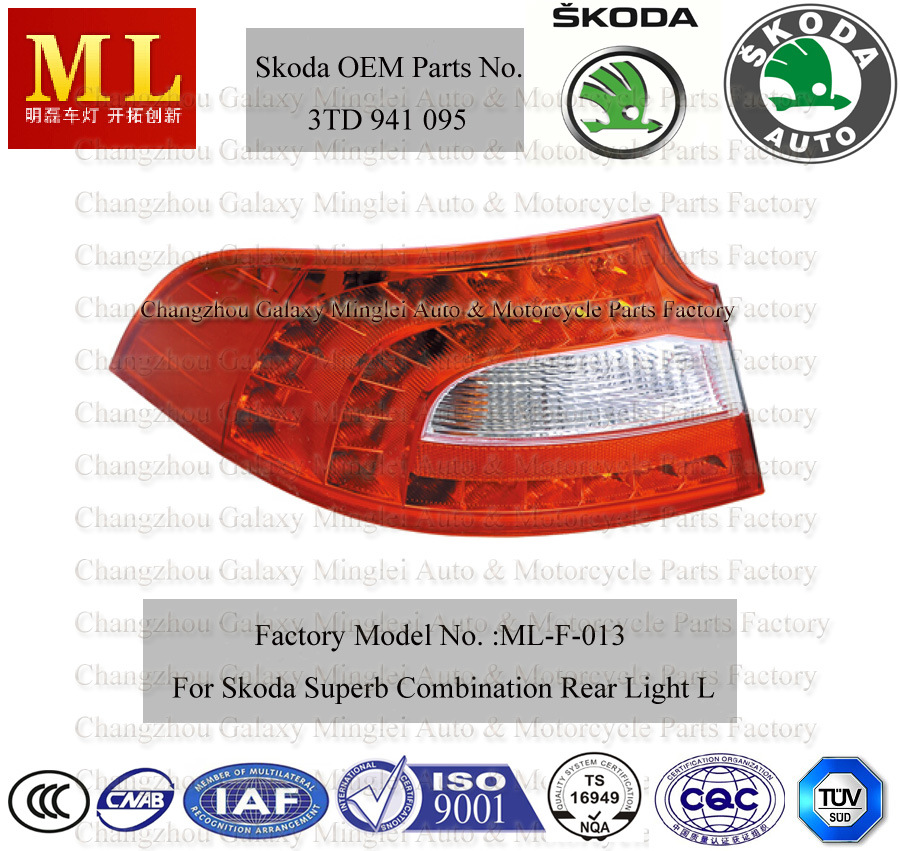 Auto Combination Rearlight for Skoda Superb From 2008 (3TD 945 095)