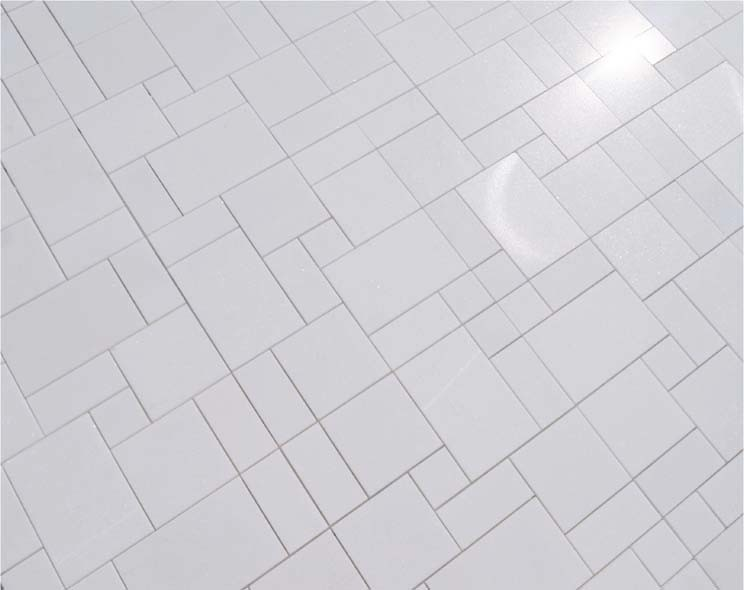 China Thassos White Marble Mosaic Mosaic Tiles And Bathroom Mosaic - Thassos white marble bathroom