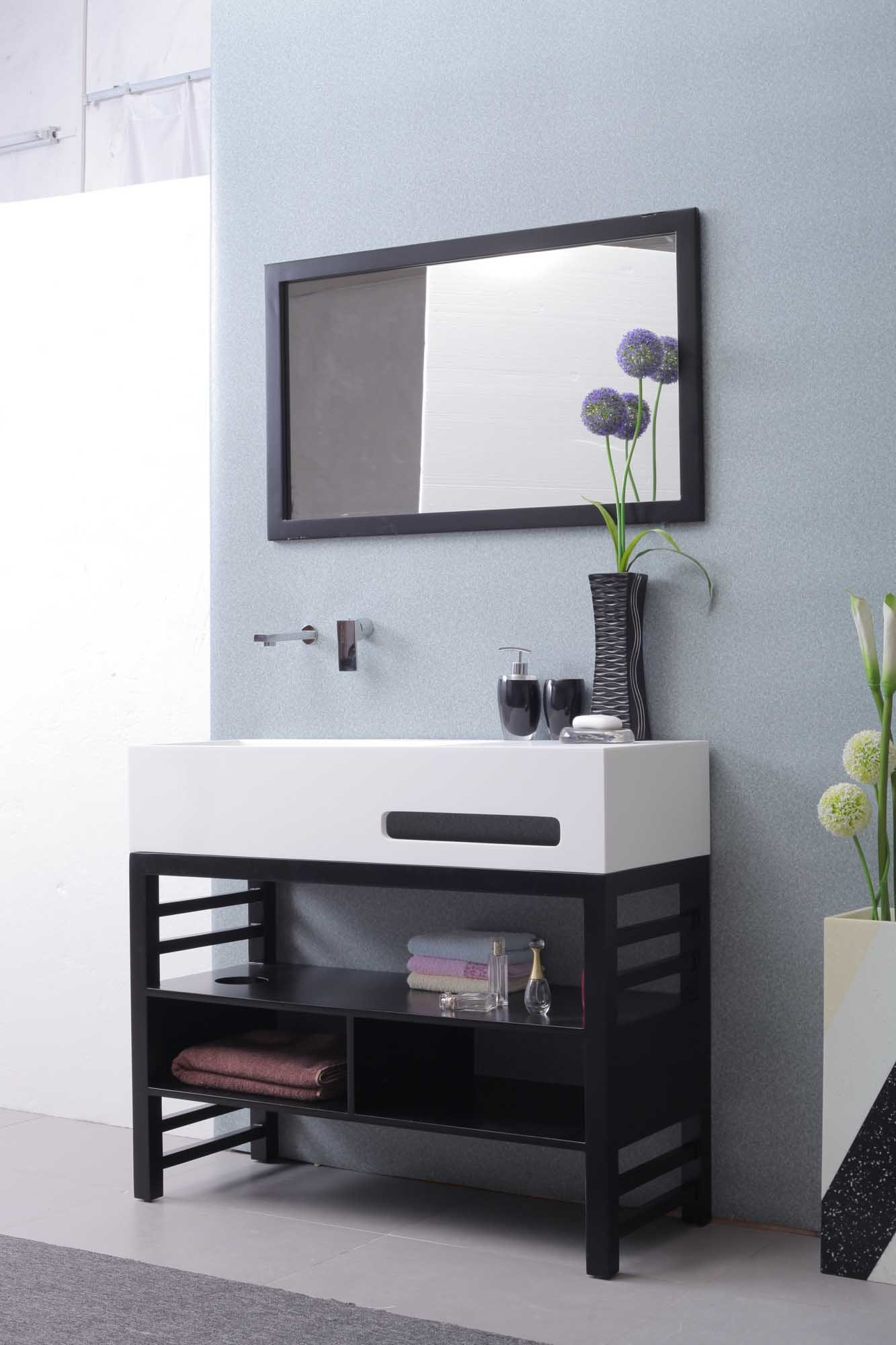 China Modern Acrylic Solid Surface Bathroom Cabinet Wash Basin Tops ...