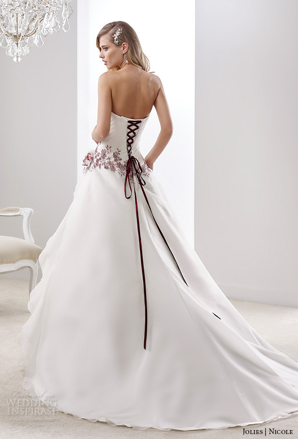 China Wine Lace Bridal Gown Color Accent Nicole Wedding Dress H5216 ...