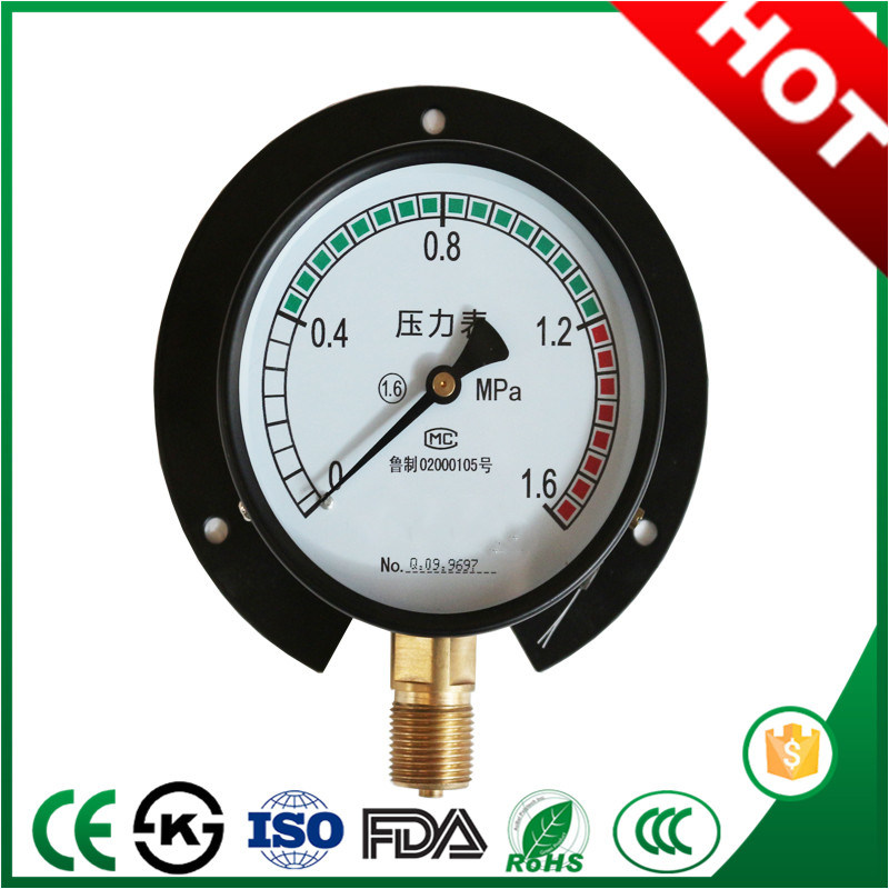 200mm Bottom Connection General Pressure Gauge Menometer with Attractive Price pictures & photos