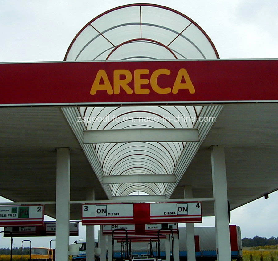 Flame Resistance Polycarbonate Arcades for Gas Station