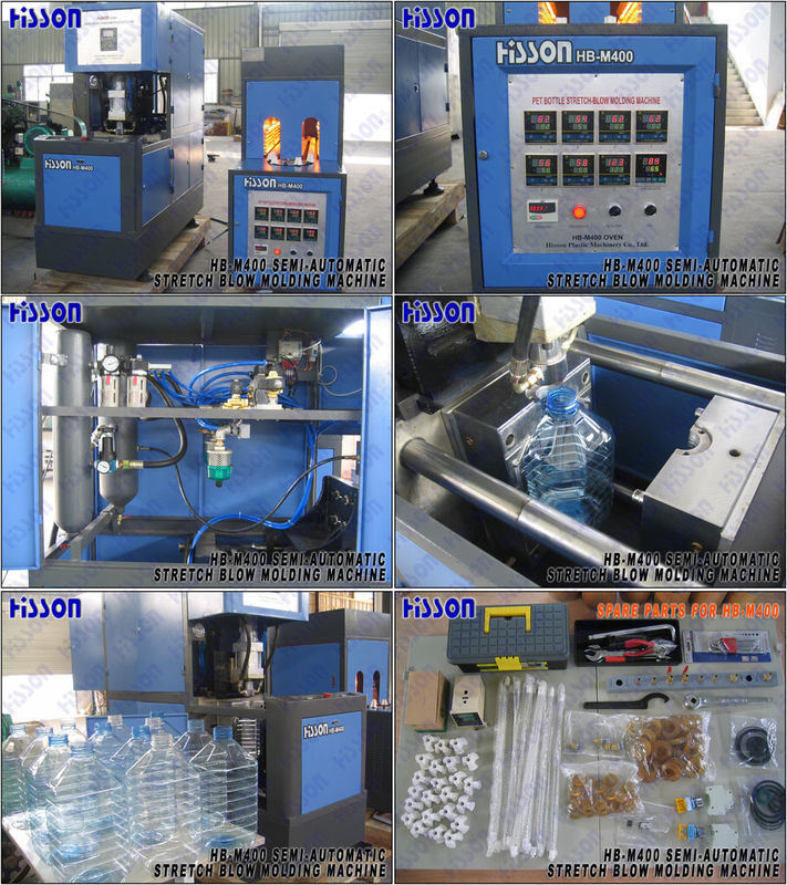Wide Mouth Jar Pet Semi-Auto Blow Molding Machine Hb-M400