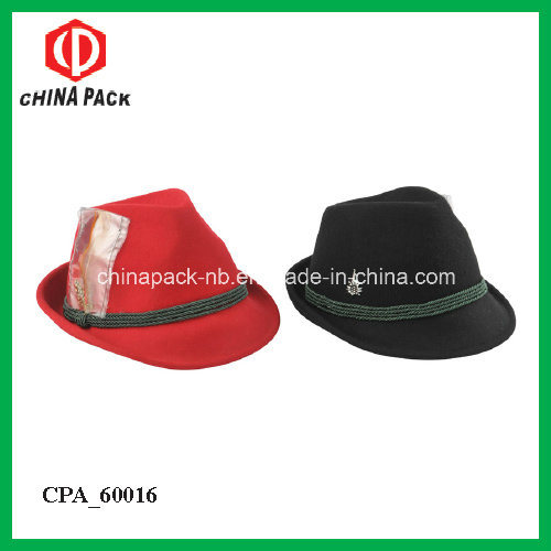 4b22cba6a52 100%Wool Felt Fedora Hats with Different Color for Winter (CPA 60226)