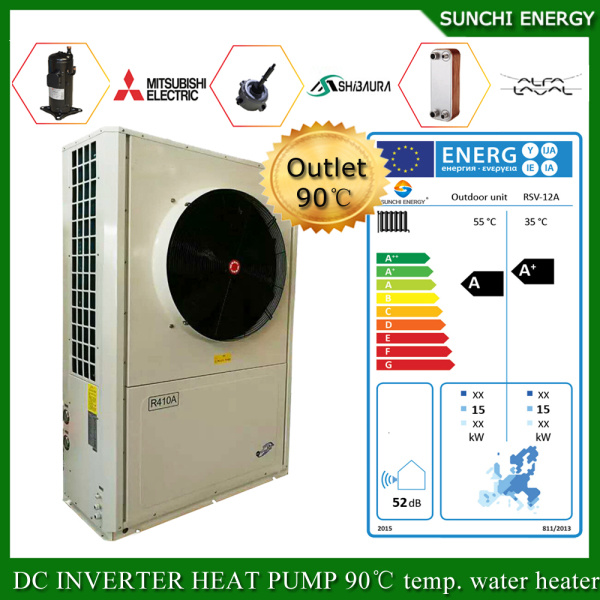 Serbia/Sweden Winter-25c Area Floor House Heating +55c Dhw Auto-Defrost Save 70% Power 12kw/19kw/35kw/70kw Monobloc Evi Air to Water Heat Pump Heater