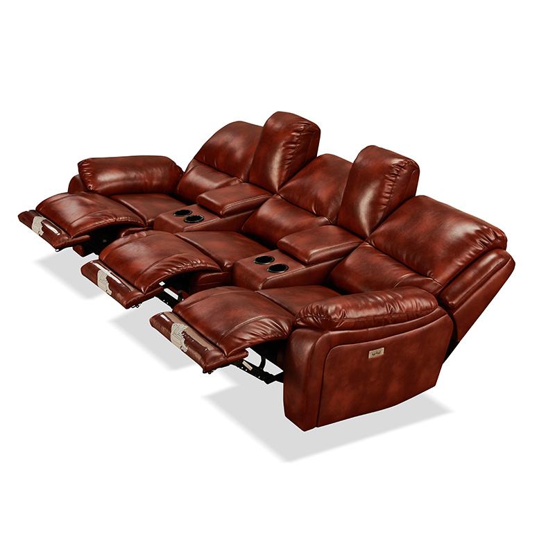 [Hot Item] Furniture Luxury Leather Reclining Power Electric Assist Lift Chair for Elderly Theater Movie PU Sofa Factoryhb211
