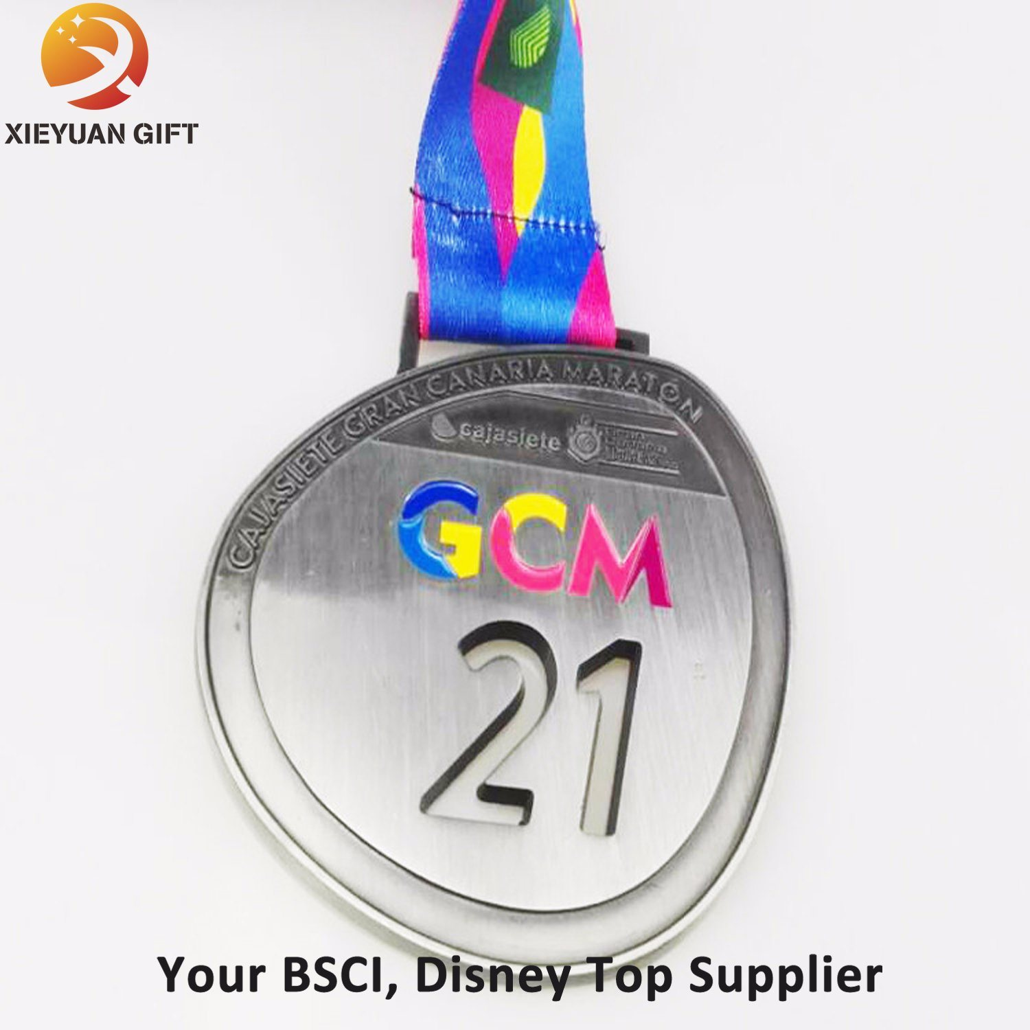 China Custom Zinc Alloy Material Gold Medal with Painting