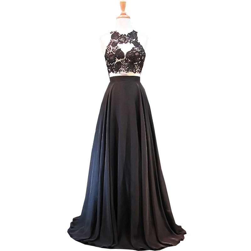 China Black Red Lace Party Prom Gowns Sleeveless Backless Bridesmaid ...