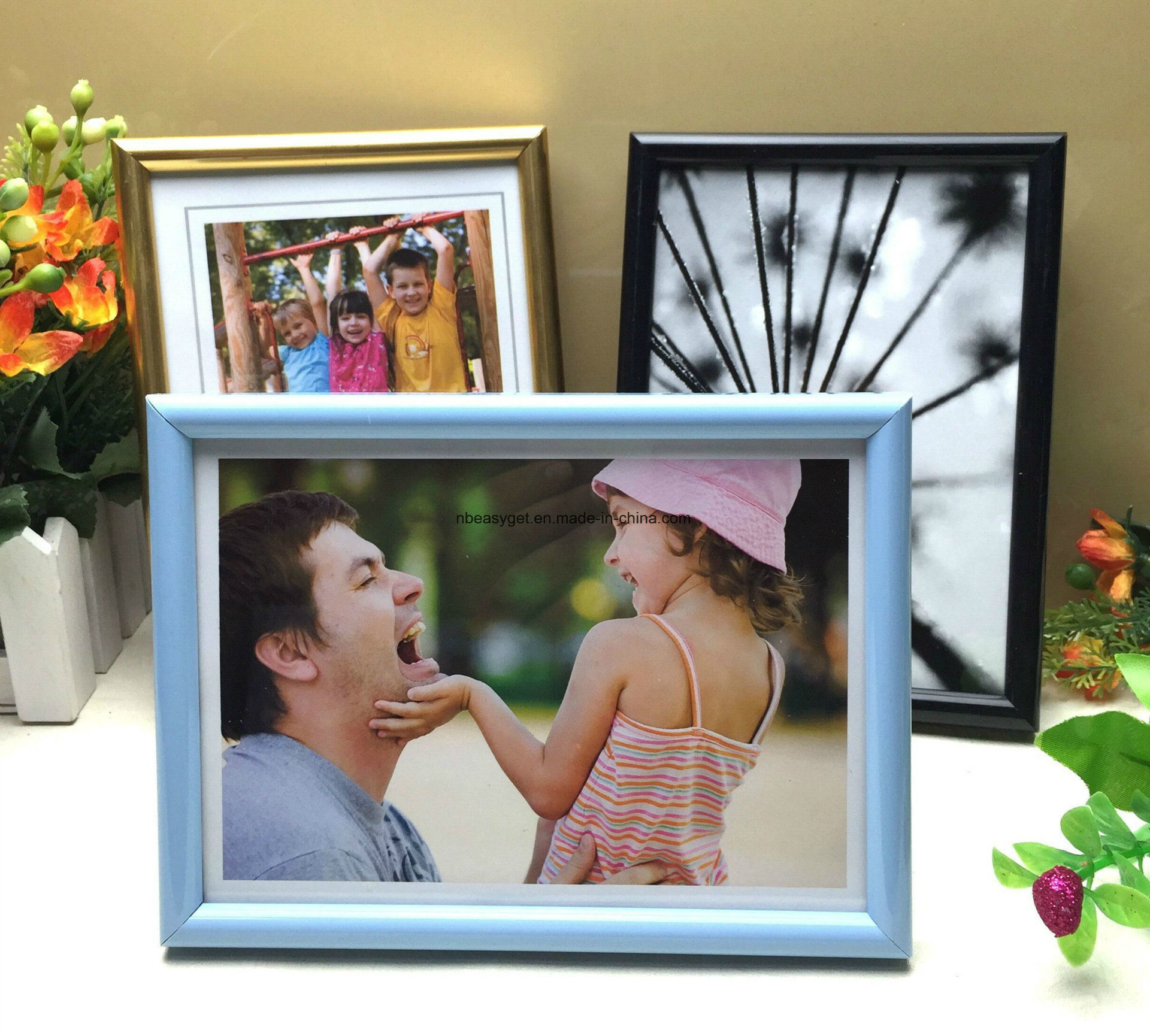 China Glossy Black Picture Frame 8x10 Inch 2 Pc Photo Display With