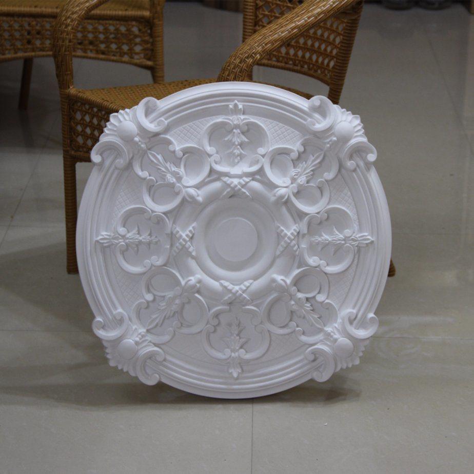 China Vintage Polyurethane Round Ceiling Medallions Pu Rose Hn 059 Medallion