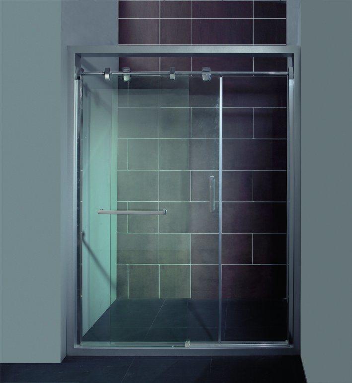 China Frameless 150190cm Customized Tempered Glass Sliding Shower